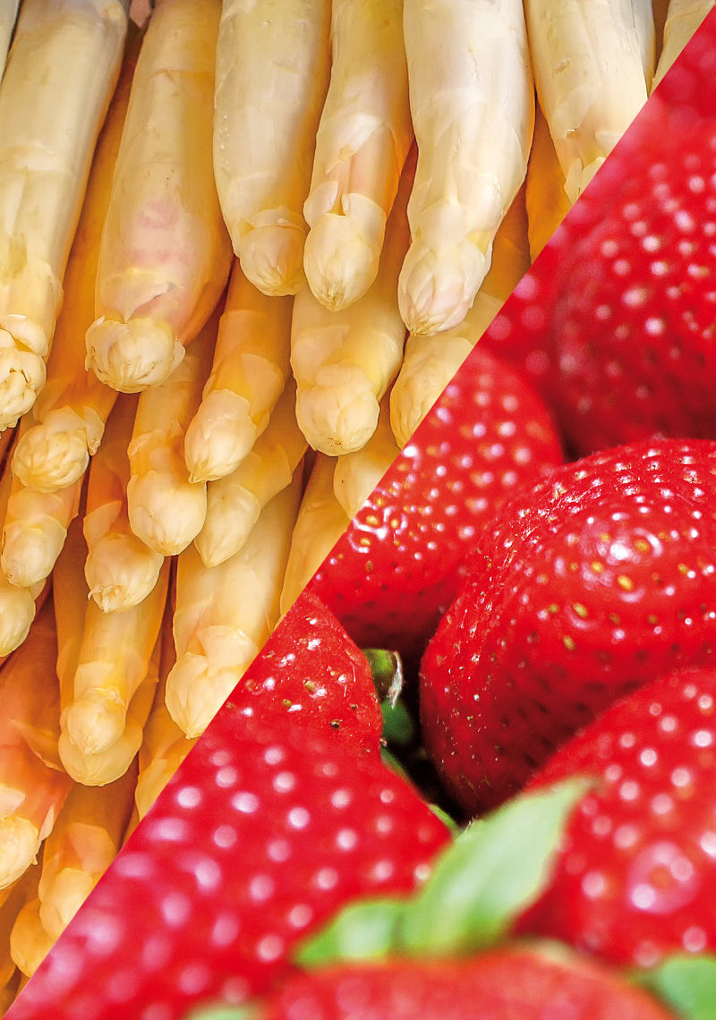 Kulinarische Zusatzangebote: Erdbeeren und Spargel