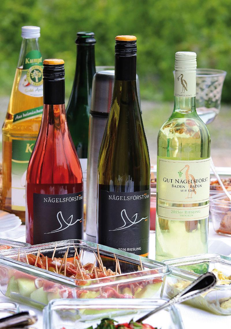 Kulinarische Zusatzangebote: Weinverkostung